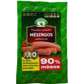 """""""KNV"""" Pieniškos dešrelės MĖSINGOS 90% mėsos 280g (cooked milky sausages """"meaty"""")"""