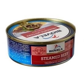 """Biovela"" Troškinta jautiena 240g (Steamed beef meat)"