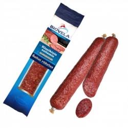 """"""" Biovela"""" Šaltai rūkytas Klasikinis saliamis 200g (Cold smoked garlic salami)"""