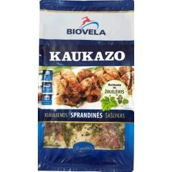 """Biovela"" Šaldyti marinuoti kiaulienos šašlykai (Marinated ""Caucasian"" shashlik, frozen)"