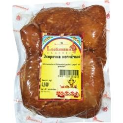 """""""Lackman""""Parūkyti vištų ketvirčiai 500g (smoked chicken quarters)"""