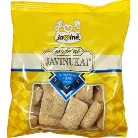 """""""Javinė"""" Mažesni javinukai sutirštinto pieno skonio 150g (Grain sticks with condensed milk taste)"""