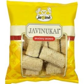 """""""Javinė"""" Javinukai braškių skonio 150g (Corn sticks with chocolate filling)"""