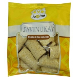 """Javinė"" Javinukai šokoladinio skonio 150g (Corn sticks with chocolate filling)"