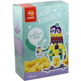 """Oho"" Saldūs kukurūzai su sutirštintu pienu 110g (Sweet corn with condensed milk)"