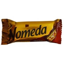 """""""Nomeda"""" Vafliniai saldainiai su obuolių masės ir riešutų įdarų, glaistyti šokoladu (Wafer sweets filled with apple mass with nuts covered with chocolate)"""