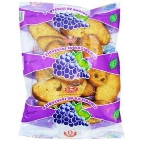 """""""Vilniaus duona"""" Džiūvėsiai su razinomis 250g (Wheat rusks with raisins)"""