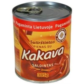 Sutirštintas pienas su kakava 385g (Condensed milk with cacao)