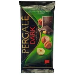 """""""Pergale"""" Juodas šokoladas su riešutais 100g (Dark chocolate with hazelnuts)"""