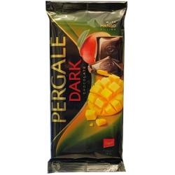 """""""Pergalė""""Juodas šokoladas su mangais 100g (Chocolate with mango)"""
