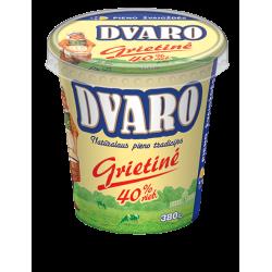"""""""Dvaro"""" Grietinė 380g 40% (Sour cream)"""