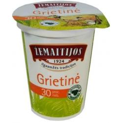 """""""Žemaitijos"""" Grietinė 450g 30% riebumo (Sour cream)"""