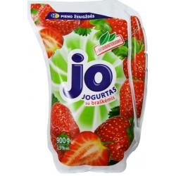"""""""Jo"""" Jogurtas su braškėmis 900g (Yogurt with strawberries)"""