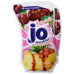 """""""Jo"""" Jogurtas su vyšniomis ir ananasais 900g (Yogurt with cherry and pineapple)"""