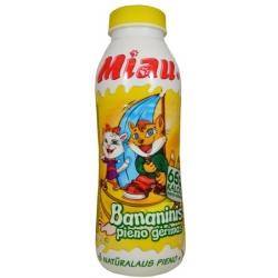 ''Miau'' Bananinis pieno gėrimas 2.3% 450ml (Banana milk drink)