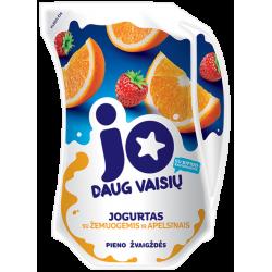 """""""Jo"""" Yogurt with strawberries and orange 900g"""