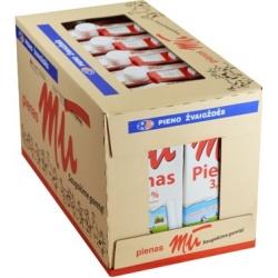 """""""Mū"""" Pienas 3,5% riebumo 1 Pakuotė 12x1 L (Milk)"""