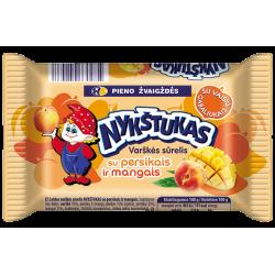 """Nykštukas"" Sweet Cheese with Peaches and Mango 100g (Sūrelis)"