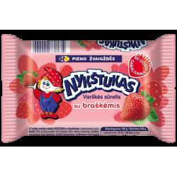 """Nykštukas"" Sweet Cheese with Strawberries 100g (Sūrelis)"