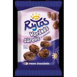 """Rytas"" Sweet Cheese with Rasins 100g (Sūrelis)"