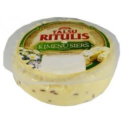 """""""Talsu Ritulis"""" Varškės sūris su kmynais 350g 48% (curd cheese with caraway seeds)"""