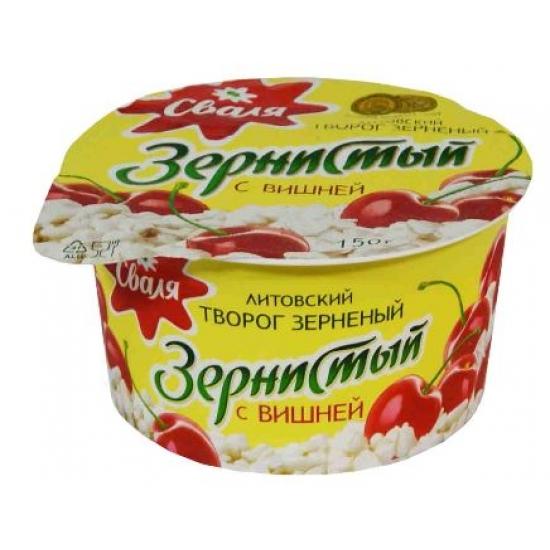 Grudeta varškė vyšnių skonis 150g 7% (Cottage cheese with cherries)