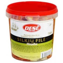 """Dese"" Silkių filė su daržovėmis aliejuje 700g""Mozaika"" (Marinated herring fillet with vegetables in oil)"