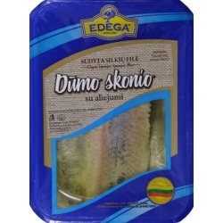 Smoke taste herring fillet with oil 400 g Seimininkes, Dumo skonio