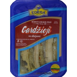 "Sūdyta silkių filė""Gardžioji""0,4kg(salted herring fillet)"