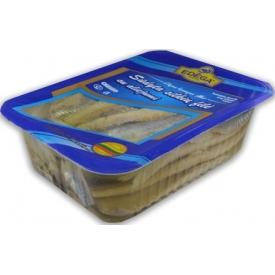 Sūdyta silkių filė aliejuje 1kg(salted herring fillet oil)
