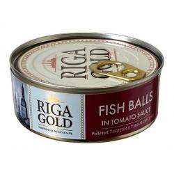 """""""Riga gold"""" Žuvies frikadelės pomidorų padaže 240g (Fish balls in tomato sauce)"""