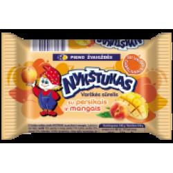 """""""Nykštukas"""" varškės sūrelis su persikais ir mangais(Curd cheese peaches and mango)"""