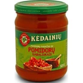 """""""KKF"""" Pomidorų padažas su pomidorų gabaliukais 500g (Tomato sauce with tomatoes)"""
