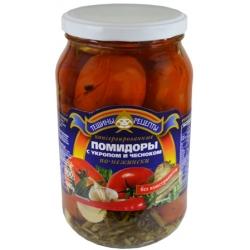 TR Marinuoti pomidorai su česnaku ir krapais 850g (Tomatoes dill)
