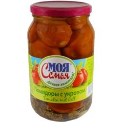 MS Marinuoti pomidorai su krapais 880g(Tomatoes dill)