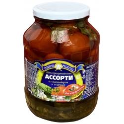 """TR"" Konservuoti asorti pomidorai su agurkais 1600g (Assorti tomatoes and cucumbers)"