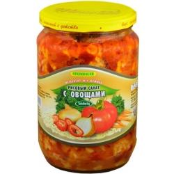 """Ryžių salotos su daržovėmis""""Рисовы салат"""" 680g(Rice salad with vegetable)"""
