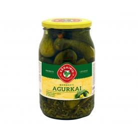 """KKF"" Agurkai marinuoti, silpnai rūgštūs 880g (pickled cucumbers)"