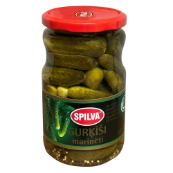 Spilva marinuoti agurkai 670(370)g ( marinated cucumbers)