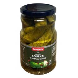 Daumantų marinuoti agurkai silpnai rūgštūs 380(680)g (Marinated cucumbers)