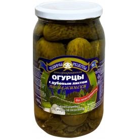 """Aldim"" Konservuoti agurkai su ąžuolo lapais 860g (cucumbers w oak leaf)"