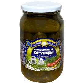 """Aldim"" Mažai sūdyti be acto agurkai 900g (less salt cucumbers)"