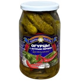 """""""Aldim"""" Konservuoti agurkai su aštriu pipiru 860g (cucumbers w spice pepper)"""