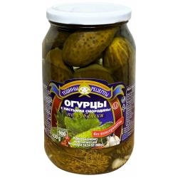 """Aldim"" Konservuoti agurkai su serbentų lapais 860g (cucumbers w currant leaf)"