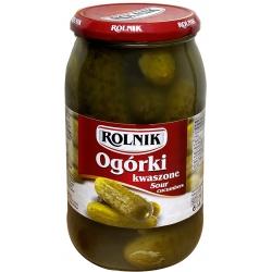 """Rolnik"" Rauginti agurkai 850g (Sour cucumbers)"