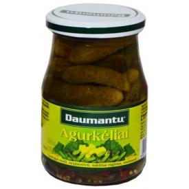 """Daumantų"" Agurkėliai 340g (Gherkins)"