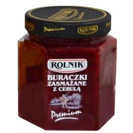 """""""Rolnik"""" Kepti burokėliai su svogūnais 580ml (Fried beetroot with onion)"""