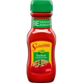 """""""Suslavičiaus"""" Pomidorų padažas klasikinis 500g  (Tomatoes sauce kechup)"""