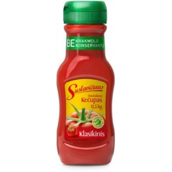 """""""Suslavičiaus"""" Pomidorų padažas """"Klasikinis"""" 500g  (Tomatoes sauce kechup)"""