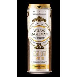"Volfas Engelman ""Balta Pinta"" 568ml (Can) 5% alc."